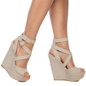 "New ""Xfoliate"" Platform Wedge Sandals"